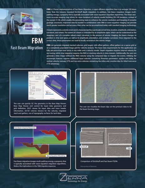 FBM Fast Beam Migration Petroleum Engineering Software Application