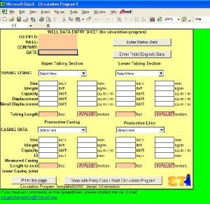 ST Excel Templates for Oilfield Professionals Petroleum Engineering Software Application